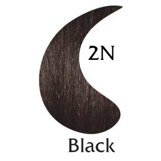 Black 2N natural hair color (2 oz hair color and 2 oz developer)