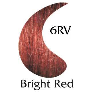 Bright Red 6RV ppd free hair color (2 oz hair color and 2 oz developer)