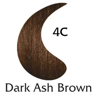 Dark Ash Brown 4C ppd free hair color (2 oz hair color and 2 oz developer)