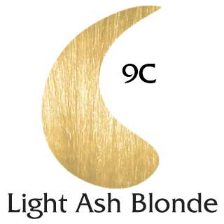 Light Ash Blonde 9C ppd free hair color (2 oz color and 2 oz developer)