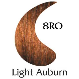 Light Auburn 8RO natural hair color (2 oz color and 2 oz developer)