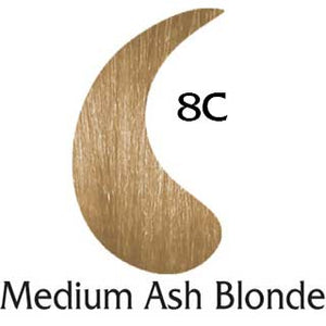 Medium Ash Blonde 8C natural hair color (2 oz color and 2 oz developer)