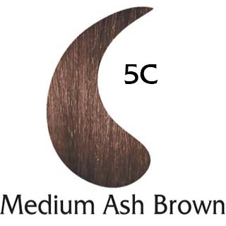 Medium Ash Brown 5C natural hair color (2 oz color and 2 oz developer)