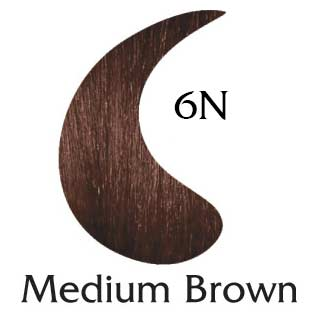Medium Brown 6N ppd free hair color (2 oz color and 2 oz developer)