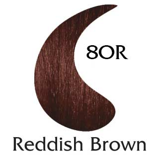 Reddish Brown 8OR natural hair color (2 oz hair color and 2 oz developer)