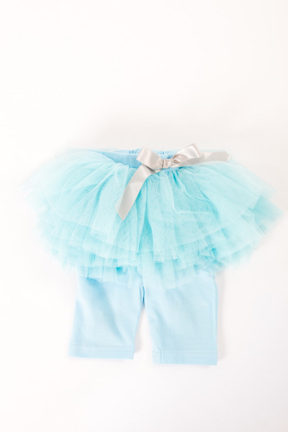 Blue tutu with leggings