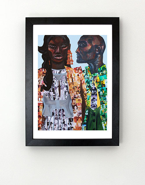 Black History Men and Women Icons Art Print