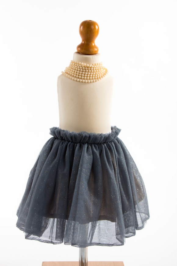 Swamp blue tutu skirt with gold glitter