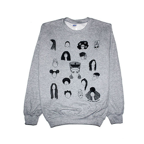 Women's Limited Edition Sweater - Celebrating Hair through Time
