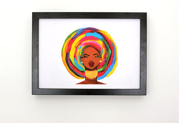 Colourful Head-Tie (Gele) Woman Art Print