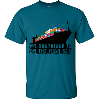 Container on the high sea t-shirt