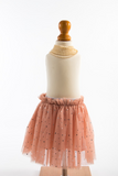 Peachy pink tutu skirt with beautiful sliver sequins
