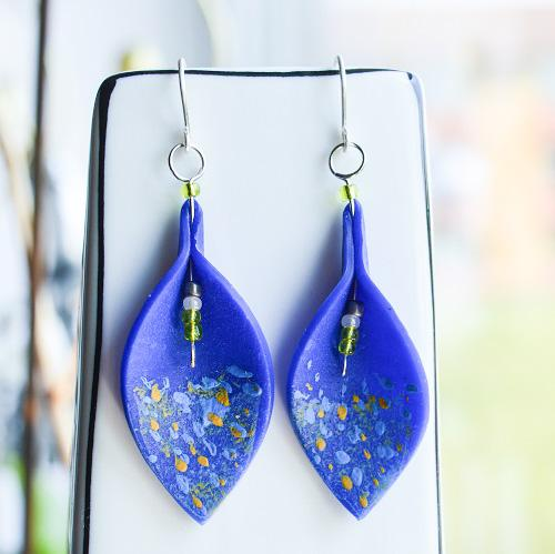 Bell Field Leaf Drop Earrings