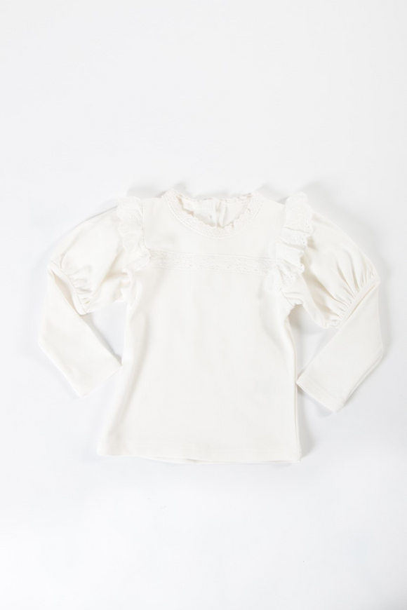 White long sleeve bubble top