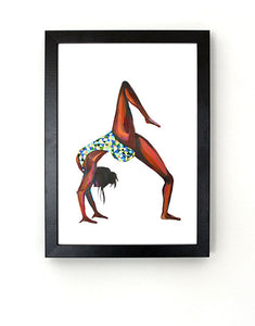 Yoga Woman Art Print