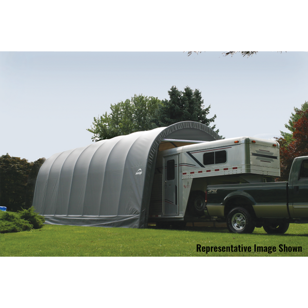 Shelter Logic Round Style RV, Truck, and Camper Carport 15 x 20 - Covered Cars