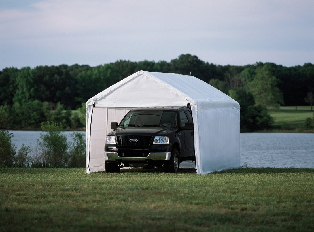 Shelter Logic Carport with Enclosure Kit 10 x 20 - Covered Cars
