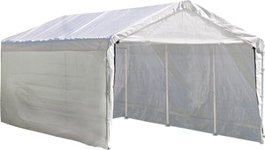 Shelter Logic Waterproof Carport with Enclosure and Extension Kits 10 x 20 - Covered Cars