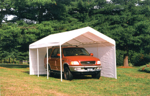 Shelter Logic Super Max Carport with Fire Resistant Canopy 10 x 20 - Covered Cars
