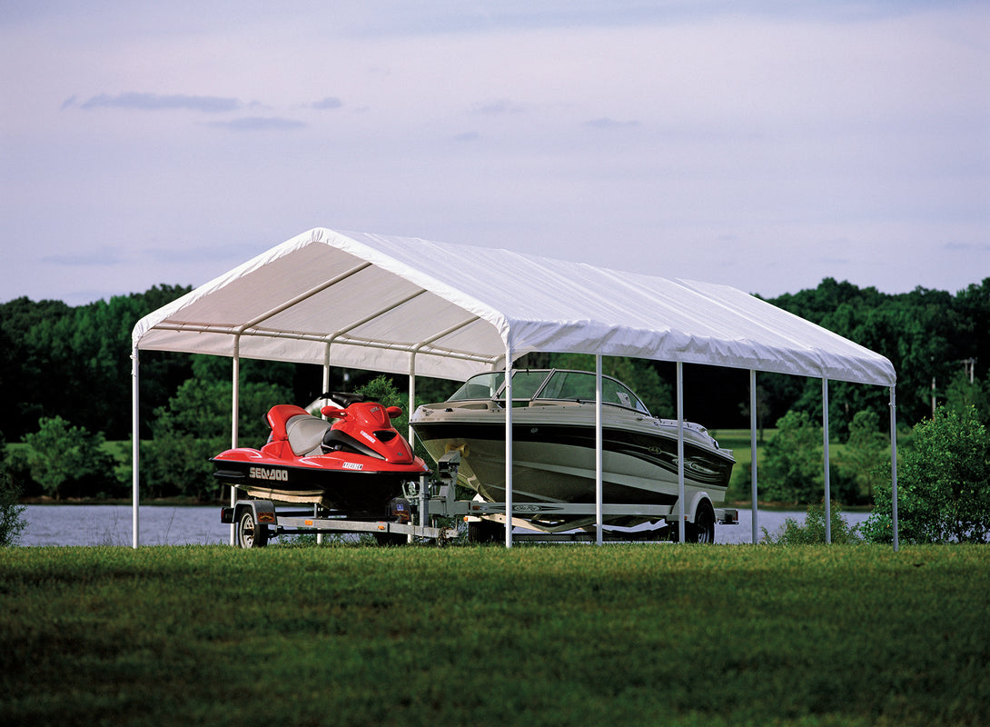 Shelter Logic Portable Carport and Shelter 12 x 30 - Covered Cars