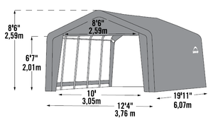 Shelter Logic Garage in a Box 12 x 20 - Covered Cars