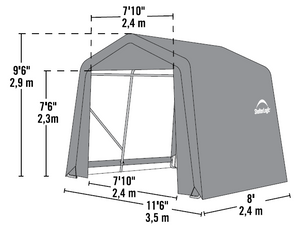 Shelter Logic Peak Style Carport and Instant Garage 11 x 8 - Covered Cars