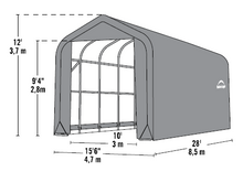Shelter Logic Peak Style RV, Truck, and Camper Carport 15 x 28 - Covered Cars