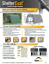 Shelter Logic Round Style Carport and Instant Garage 11 x 16 - Covered Cars