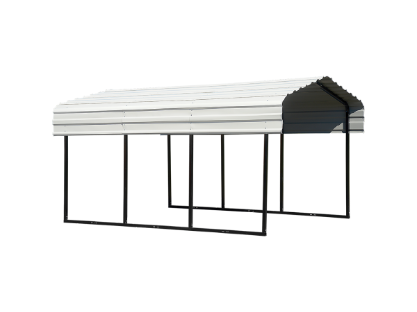 Arrow All Steel Carport and Patio Cover 10 x 15 - Covered Cars