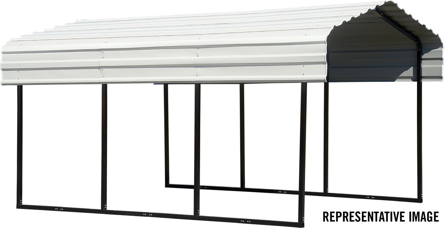 Arrow All Steel Carport and Patio Cover 10 x 20 - Covered Cars