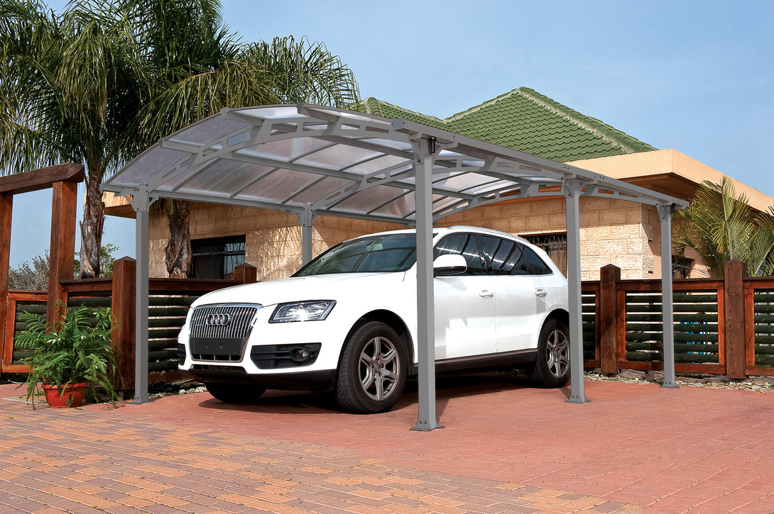 Palram Arcadia 5000 Carport Kit 12 x 16 - Covered Cars
