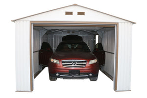 Duramax Imperial Metal Garage Kit 12 x 26 - Covered Cars