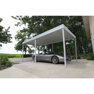 Arrow Freestanding Steel Carport and Patio Cover 10 x 10 - Covered Cars