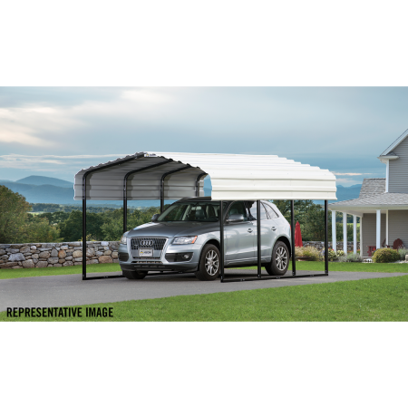 Arrow All Steel Carport and Patio Cover 10 x 24 - Covered Cars