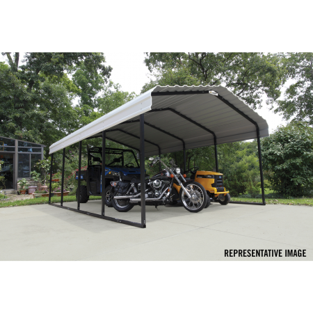 Arrow All Steel Carport and Patio Cover 12 x 29 - Covered Cars
