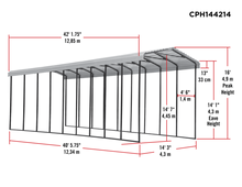 Arrow All Steel RV Carport 14 x 42