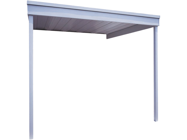 Arrow Attached Steel Carport and Patio Cover 10 x 10 - Covered Cars