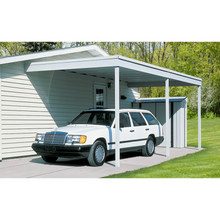 Arrow Attached Steel Carport and Patio Cover 10 x 20 - Covered Cars