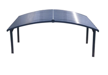 Palram Arizona Wave Arched Double Carport 19 x 16 - Covered Cars