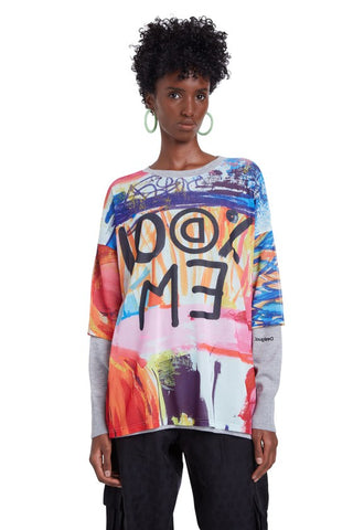 Arty Drop Shoulder Tricot Jumper