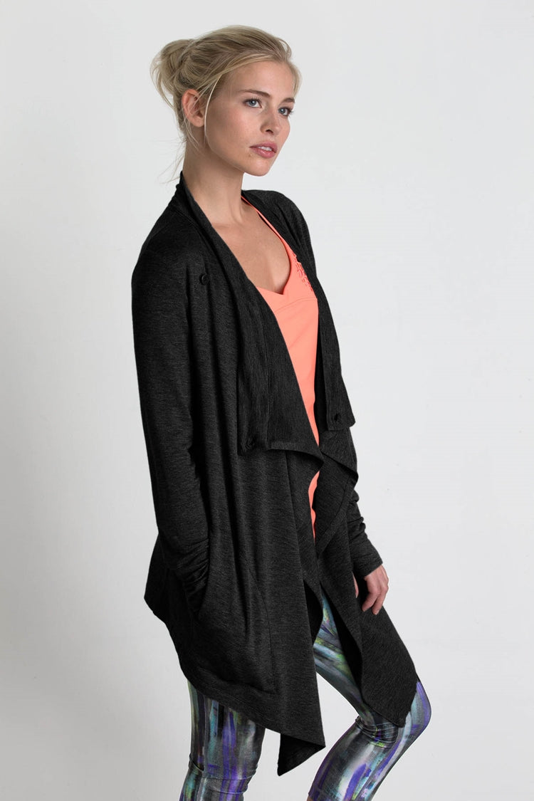 Wisdom Cardigan Cover Up - Black