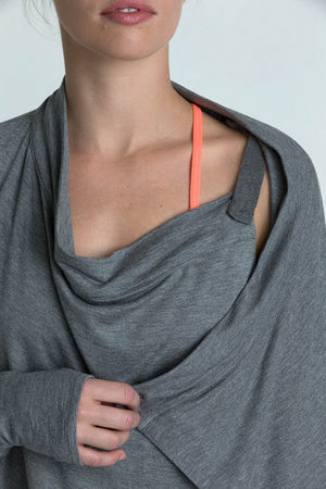 Wisdom Cardigan Cover Up - Heather Charcoal