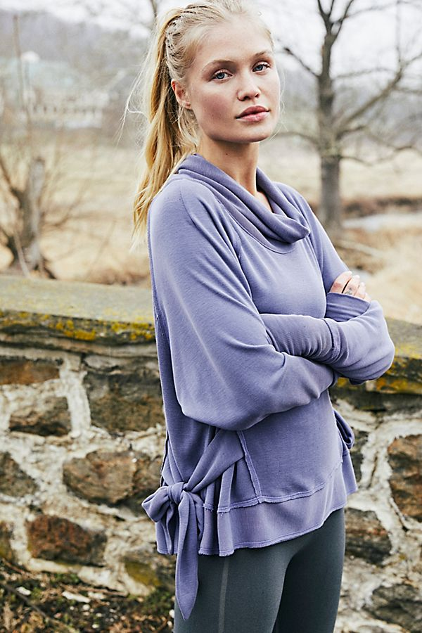 Free People Sweet Flow Pullover - Blue Aura