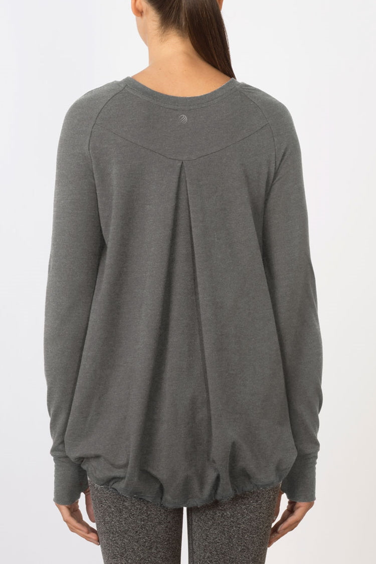 Slouch Terry Pullover - Heather Concrete