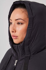 Stratosphere Black Down Slouchy Puffer Jacket