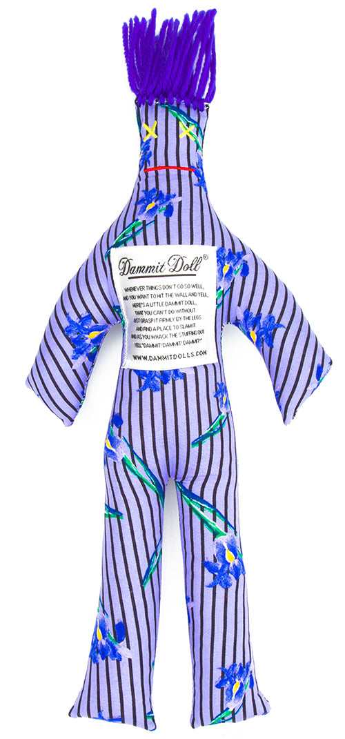 Dammit Doll BLUE LYING LILIES STRESS DOLL