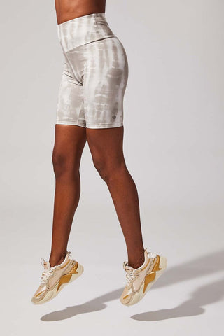 "Climb High 8"" High Waisted Biker Shorts at 35.00"