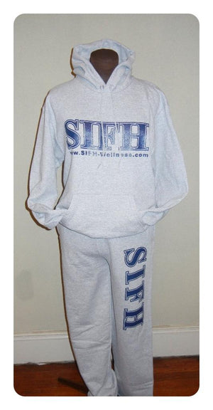 SIFH Signature Open Bottom Sweatpants - Grey/Blue