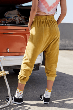 Free People In the Slick of It Harem Pants - Chartreuse