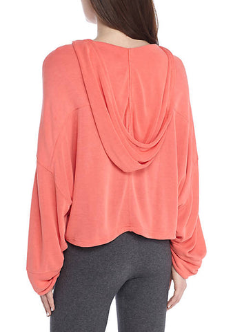 Yella Hoodie - Hot Coral at 74.99